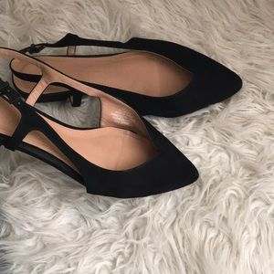 H & M Sling Back Flats Shoes Pointed Toe sz 8.5